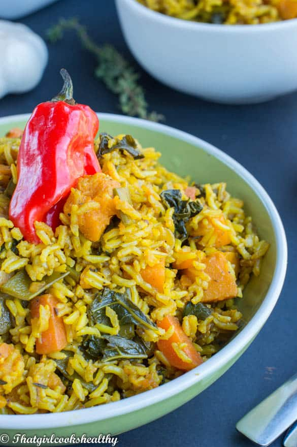 Pumpkin and turmeric rice2