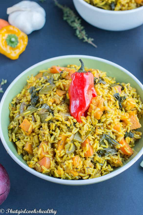 Pumpkin and turmeric rice4