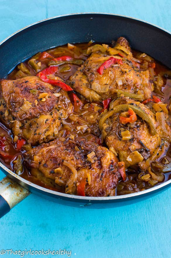Jamaican brown stew chicken - That Girl Cooks Healthy