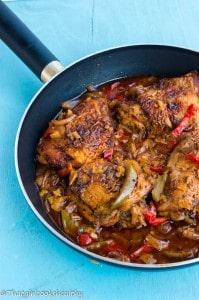 Authentic Jamaican brown stew chicken