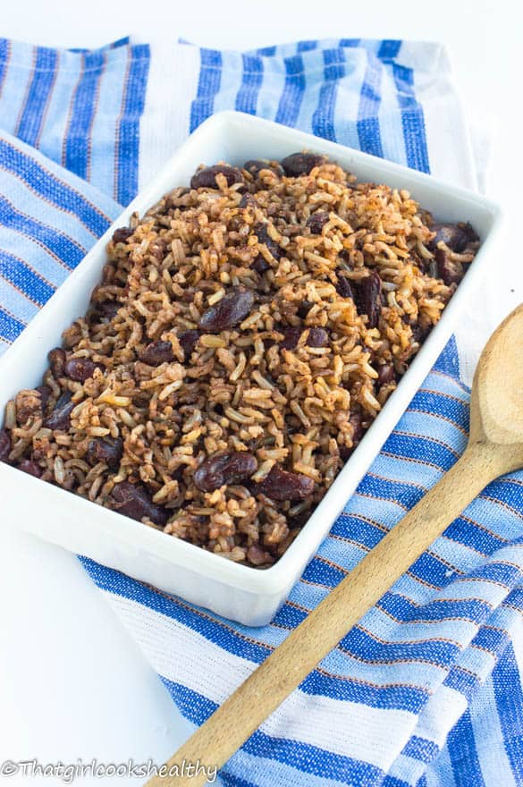 Rice and peas recipe - Jamaican style
