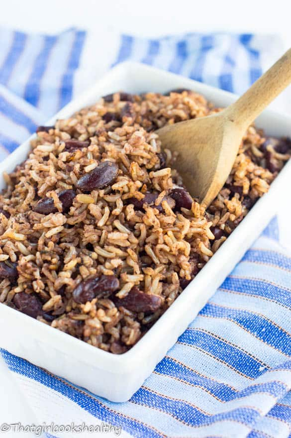 Rice and peas recipe – Jamaican style - That Girl Cooks Healthy