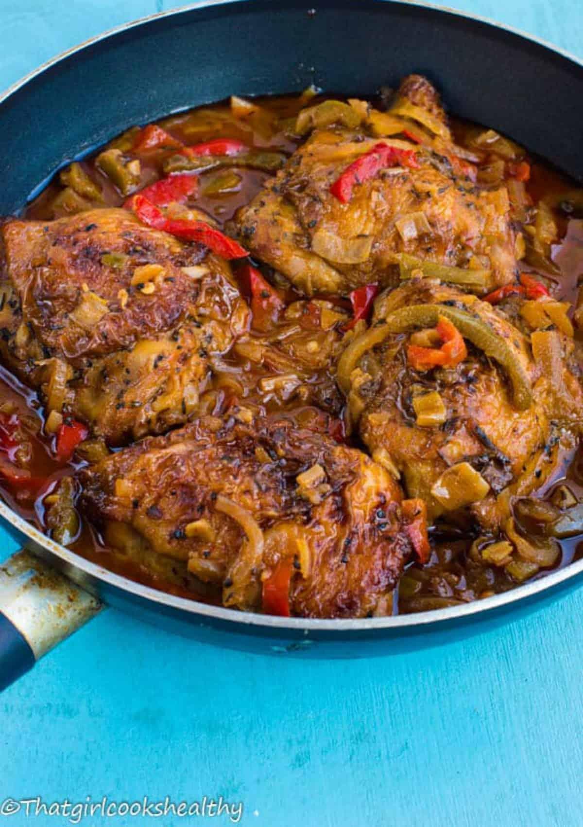 authentic jamaican brown stew chicken paleo  that girl