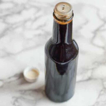 Browning in a sauce bottle