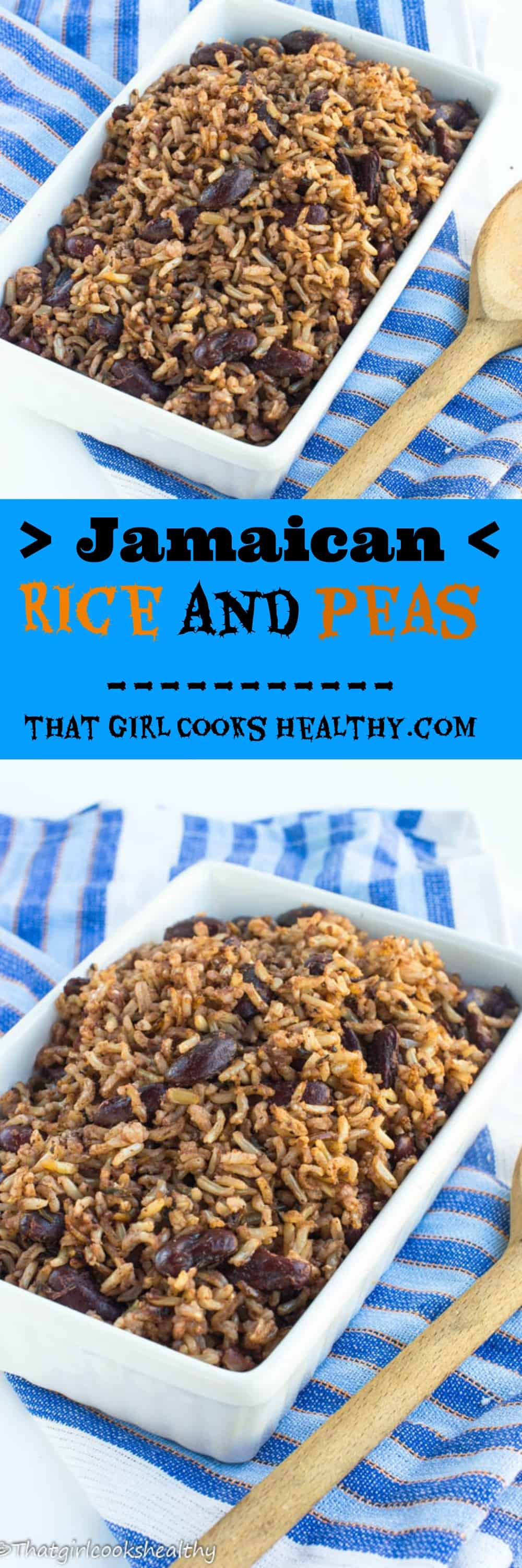 rice and peas recipe  jamaican style  that girl cooks