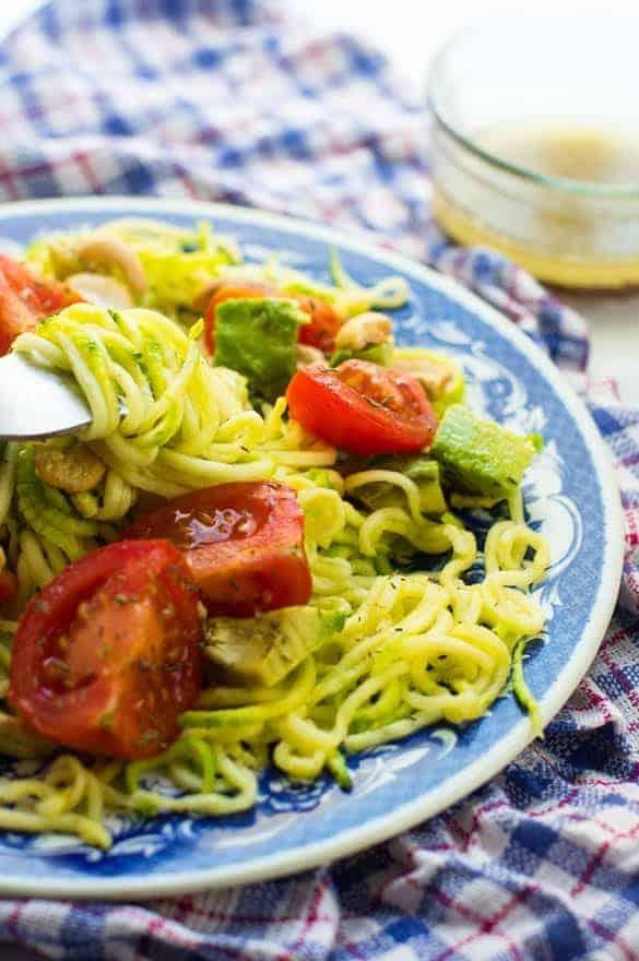 Avocado zucchini salad
