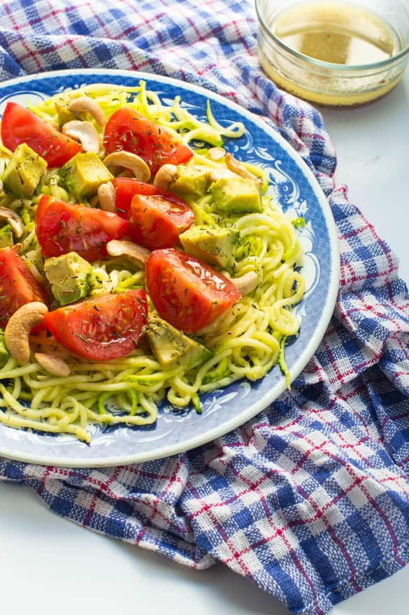 Avocado zucchini salad2