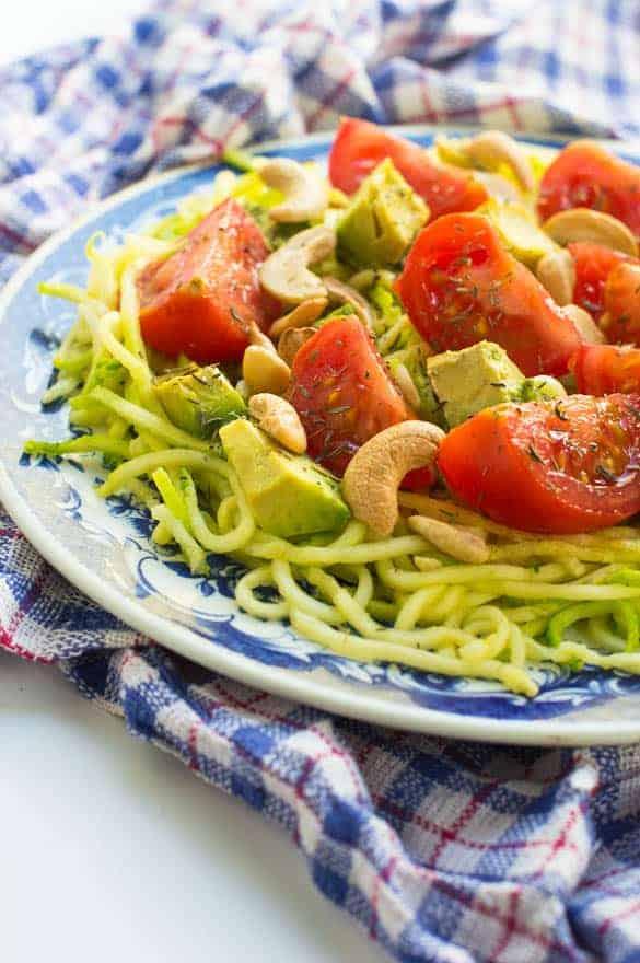 Avocado zucchini salad3