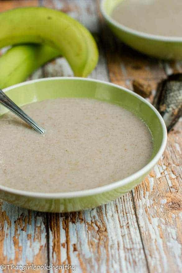 Green banana porridge4 1 - Green banana porridge (vegan style)