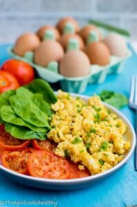 Scrambled egg with tomatoes (Gluten free)
