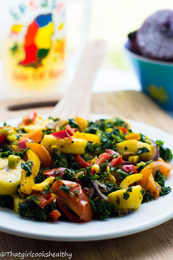 Boiled plantains with kale4