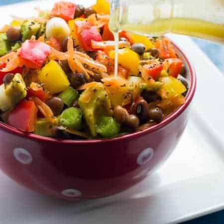 pigeon pea salad (legume salad)