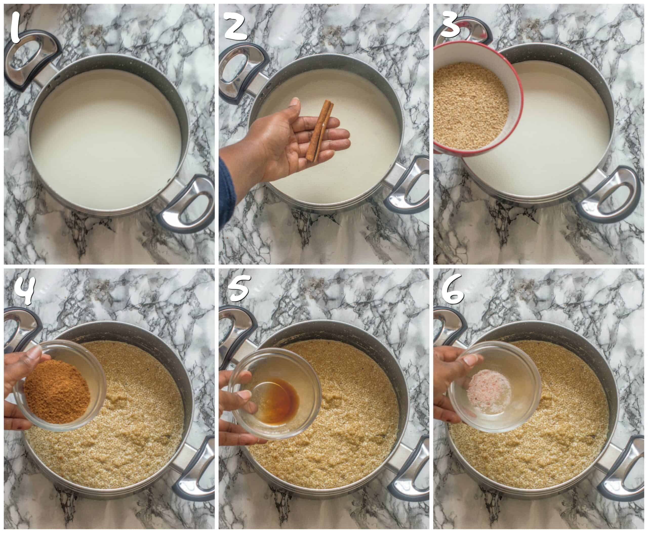 steps to making the pudding