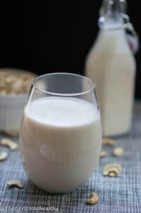 Cashew milk recipe 199x300 - Homemade cashew milk