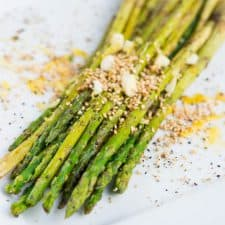 Charred asparagus with lemon
