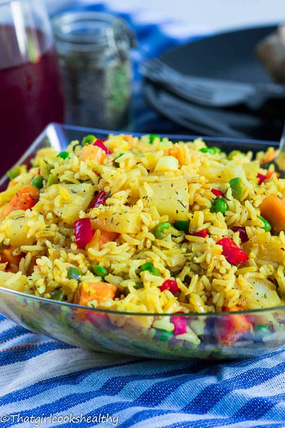 Pineapple papaya fried rice