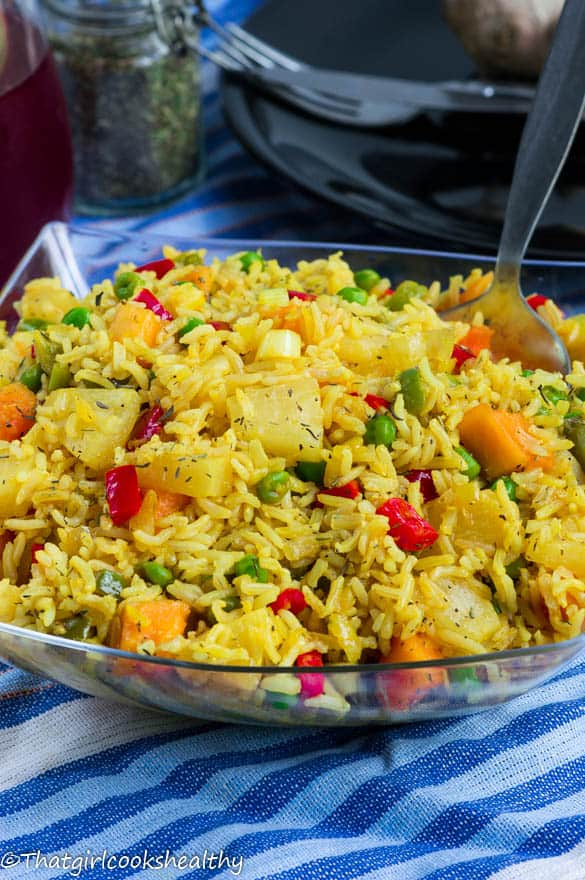 Thai pineapple fried rice - That Girl Cooks Healthy