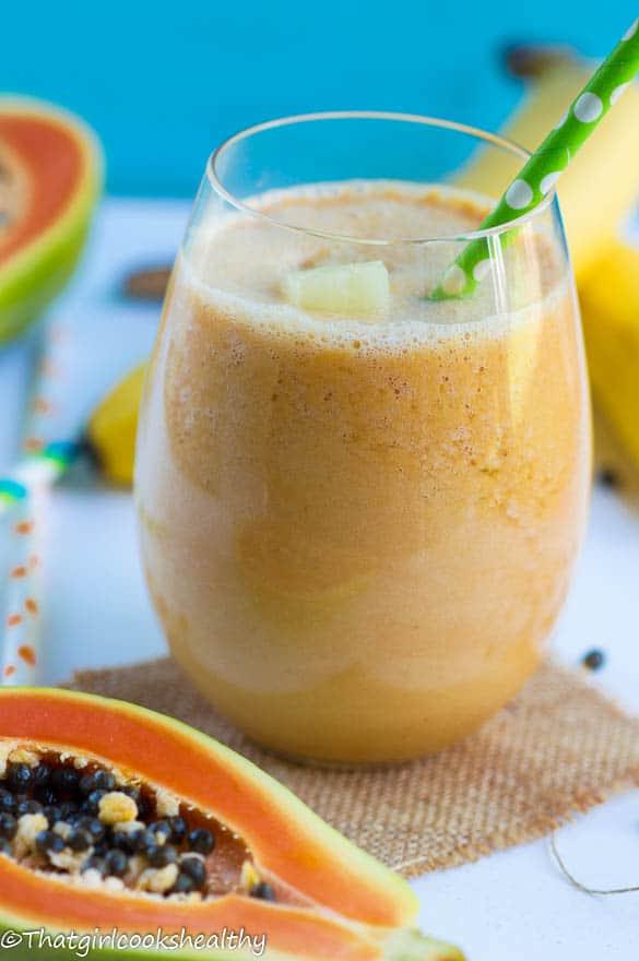 Pineapple papaya smoothie2