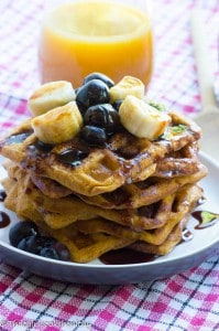 Mini sweet potato waffles (Paleo and gluten free)