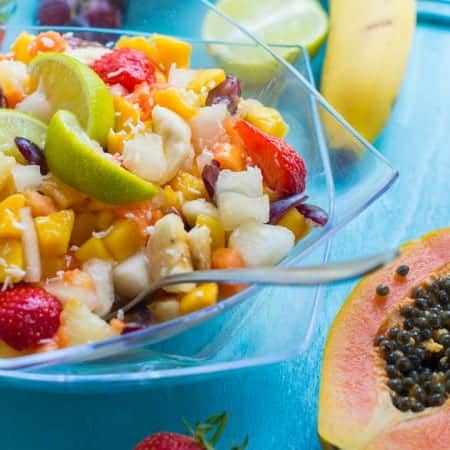 tropical fruits fruit salad healthy recipe