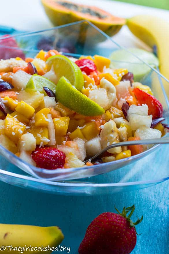 Tropical summer fruit salad - That Girl Cooks Healthy