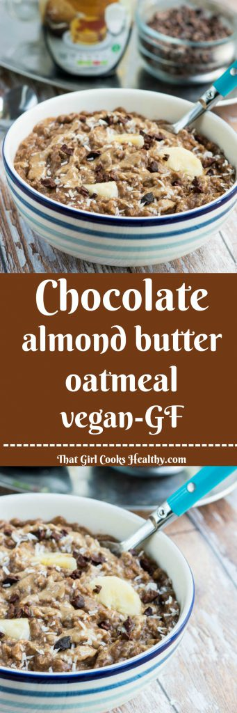 Chocolate-almond-butter-oatmeal