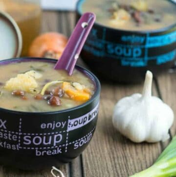 two bowl of soup