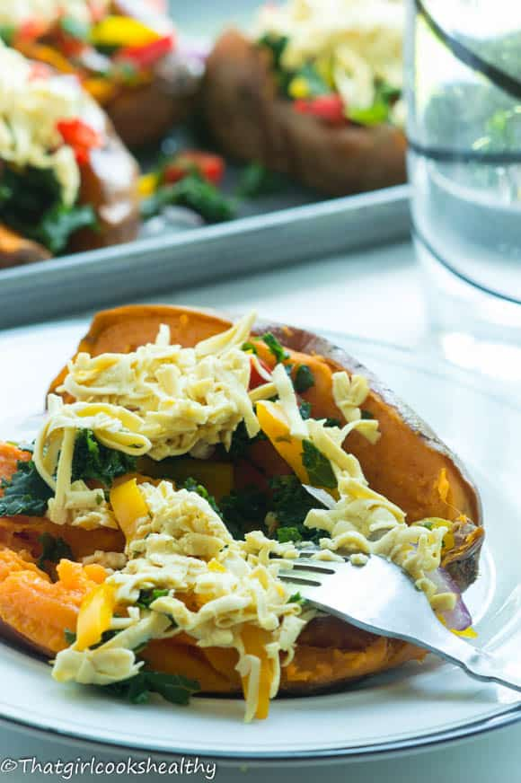Loaded sweet potato skin4