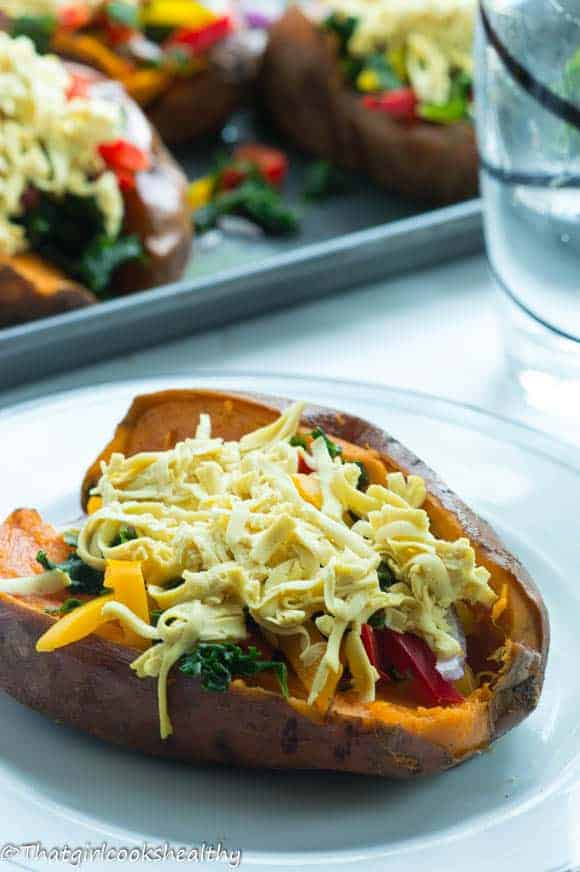 Loaded sweet potato skins2