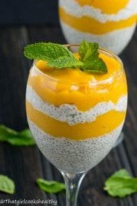 Mango chia seed pudding3 199x300 - Mango chia seed pudding (dairy free)