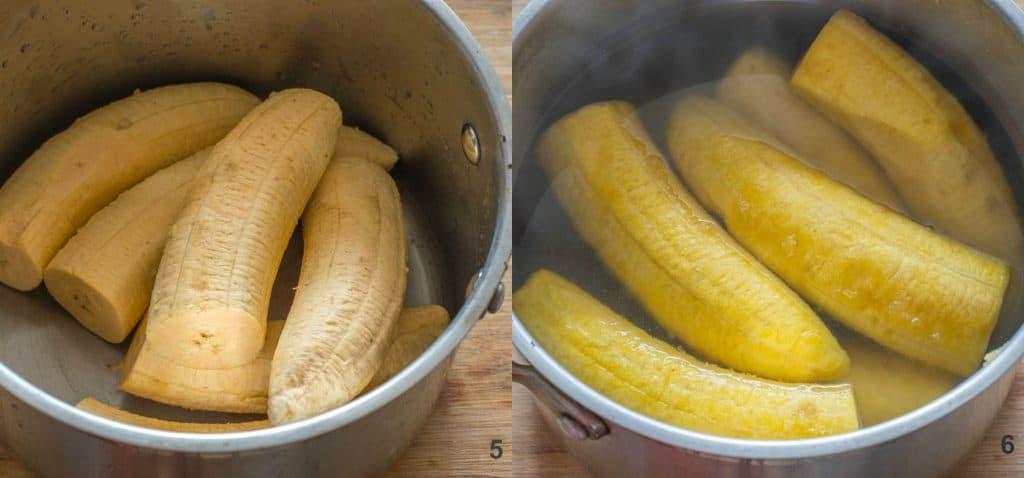 Steps 5-6 how to make dominican mangu