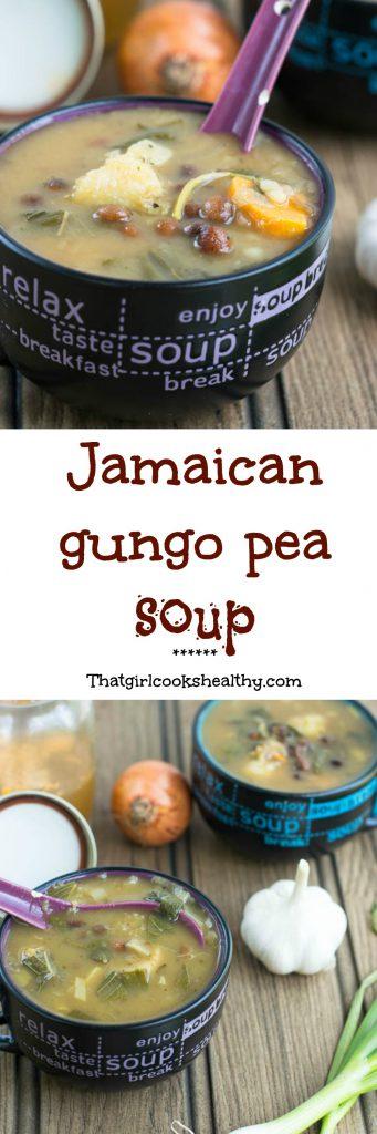 gungo pea collage 341x1024 - Jamaican gungo peas soup (pigeon pea soup)