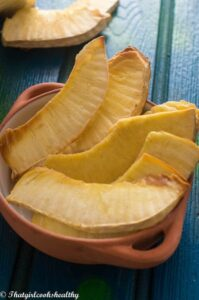 How to roast breadfruit