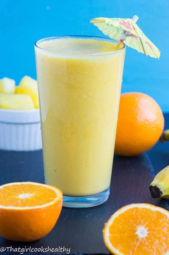 Orange pineapple banana smoothie2