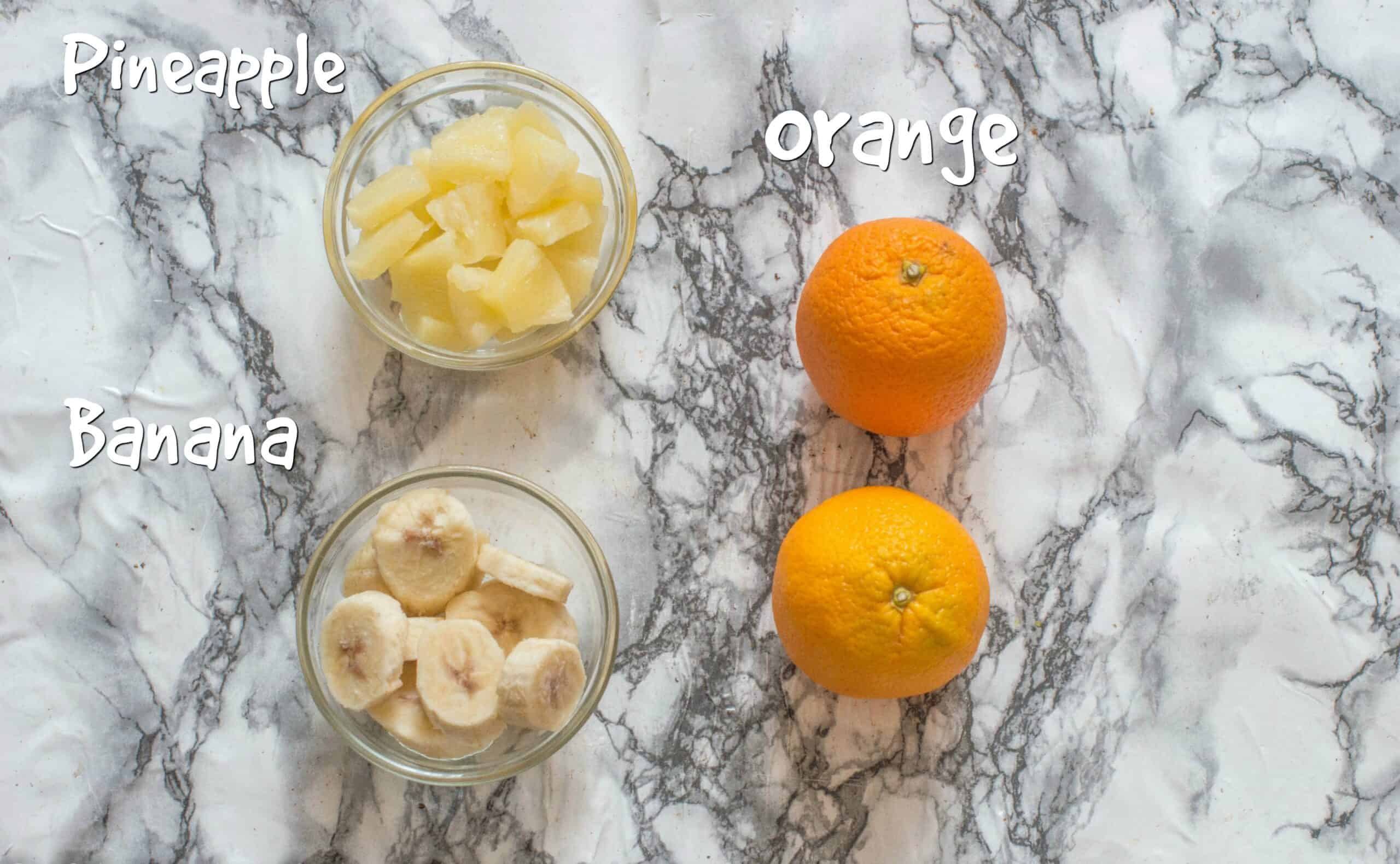 ingredients for the smoothie