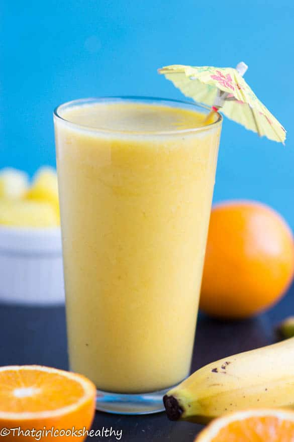 Orange pineapple banana smoothie - That Girl Cooks Healthy