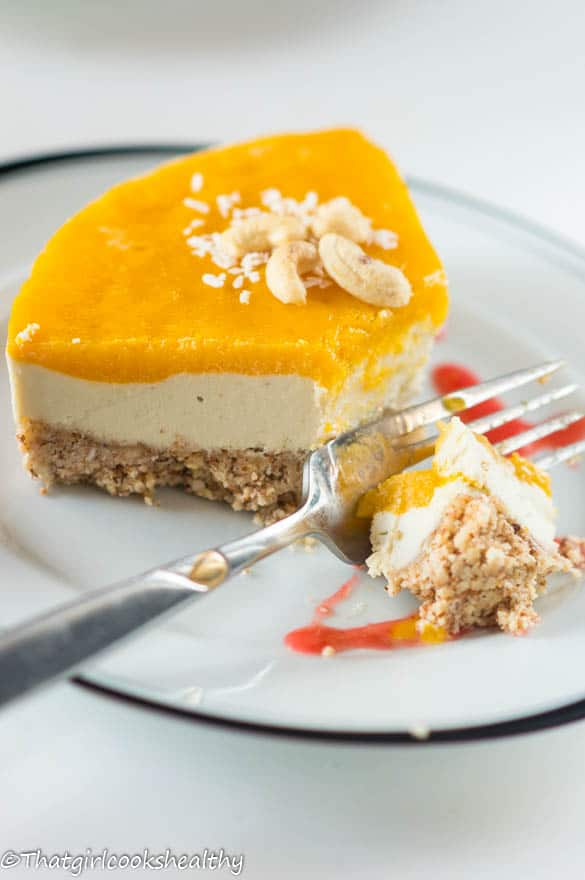 Raw mango cheesecake5