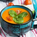 Roasted red pepper and tomato soup3