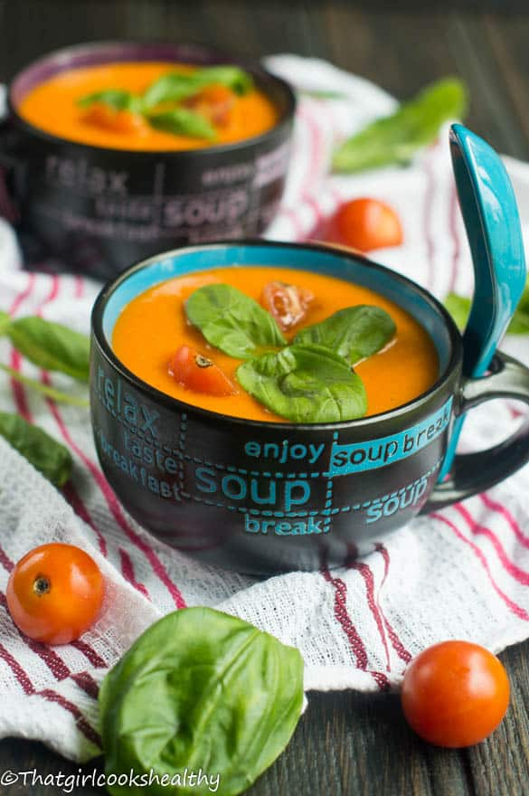 Roasted red pepper and tomato soup4