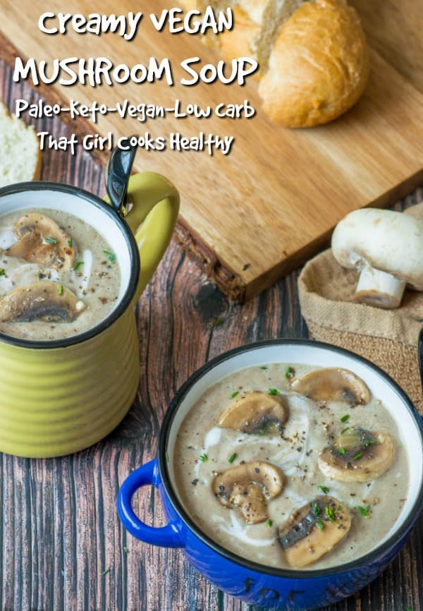 Creamy vegan mushroom soup is so delicious and hearty. Made in an instant pot or stove top