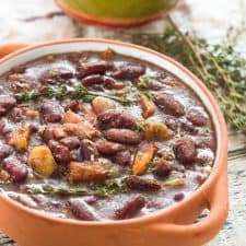 Belizean inspired stew beans