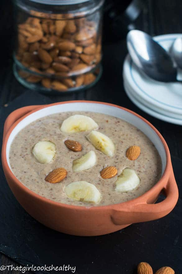 Roasted almond porridge