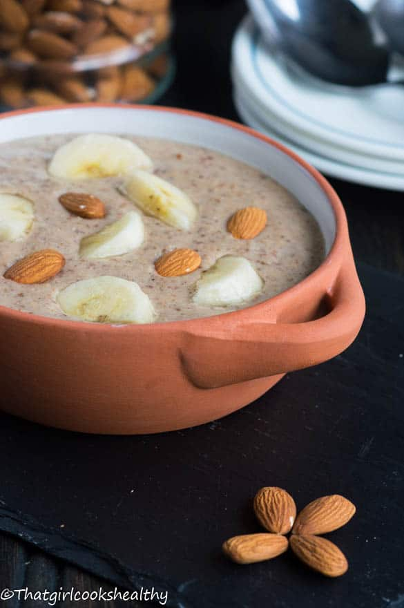 Roasted almond porridge2
