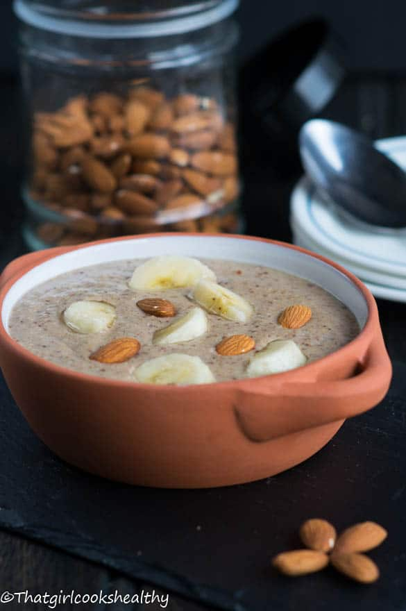 Roasted almond porridge3