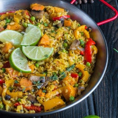vegan paella (Caribbean paella)