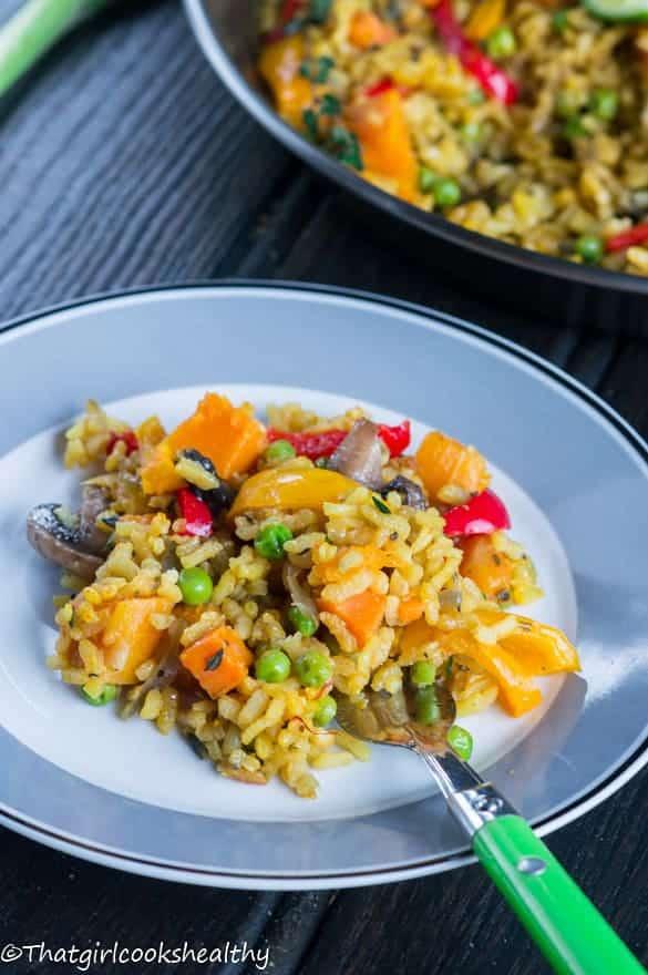 Caribbean paella