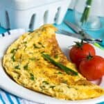 Cheese and chive omelette 150x150 - Cheese and chive omelette (dairy free)