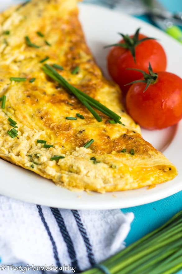 Cheese and chive omelette2