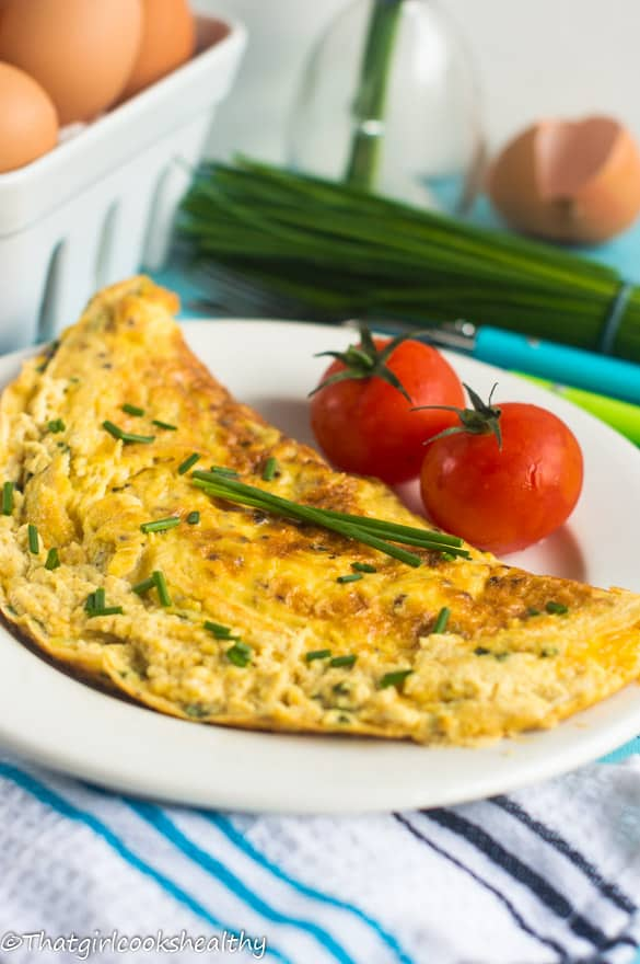 Cheese and chive omelette5