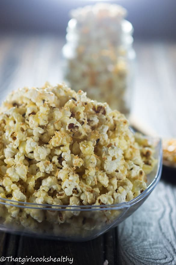 Toasted coconut popcorn